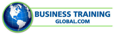 photo of logo for BusinessTrainingGlobal.com-blue letters