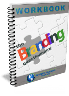 photo of the workbook-The Branding Questionnaire