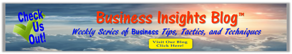 photo of banner ad for Business Insights Blog