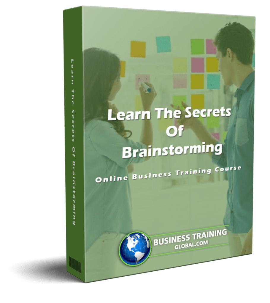 photo of courseware box-Learn the Secrets of Brainstorming Online Course from Business Training Global.com