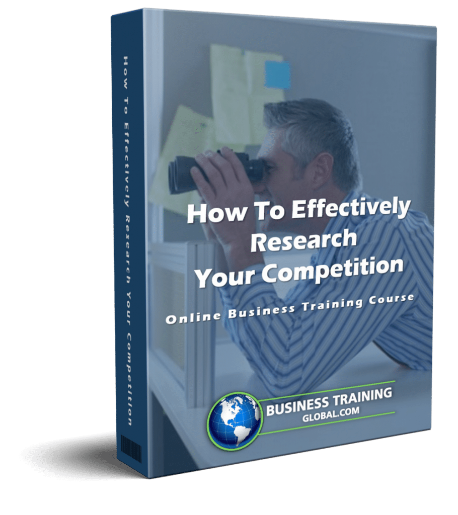 photo of courseware box-How to Effectively Research Your Competition Online Course