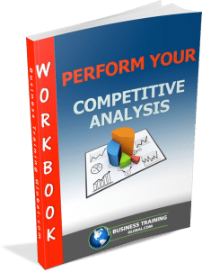 Photo of the workbook for how to perform your competitive analysis