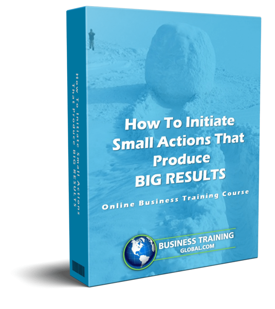 photo of courseware box-How to Initiate Small Actions that Produce Big Results Online Course