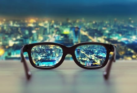 Photo image of glasses-clear vision
