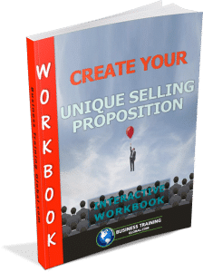 Photo of the workbook for how to create your Unique Selling Proposition (USP).