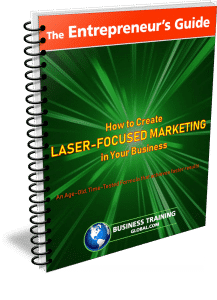 photo of the entrepreneurs guide for how to create laser focused marketing in your business