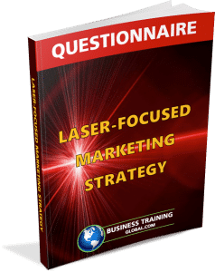 photo of questionnaire for laser focused marketing strategy