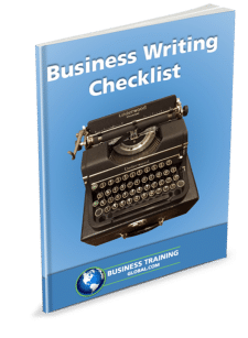 Photo of Workbook-Business Writing Checklist from Business Training Global.com