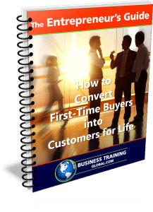 photo of the entrepreneurs guidebook for how to convert first time buyers into customers for life