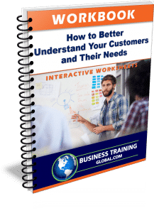 photo of workbook for how to better understand your customers and their needs
