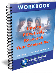 photo of workbook for how to effectively research your competition