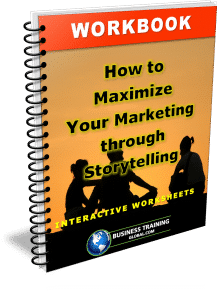 photo of the workbook how to maximize your marketing through storytelling