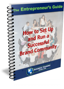 photo of the entrepreneurs guidebook for how to set up and run a successful brand community