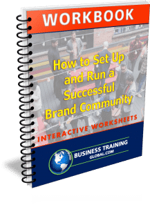 photo of workbook for how to set up and run a successful brand community