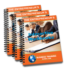Photo collage of Workbooks from Business Training Global.com