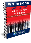 Photo of the Goal Setting and Action Plan Workbook from Business Training Global.com