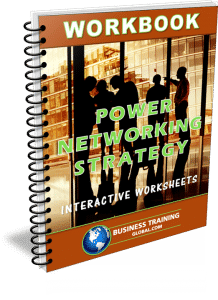 photo of the workbook to power networking strategy