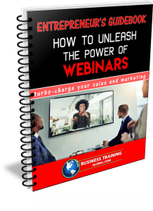 photo of the entrepreneurs guidebook for how to unleash the power of webinars