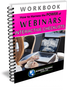 photo of workbook for how to harness the power of webinars checklists
