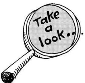 photo of text image-Take a look magnifying glass