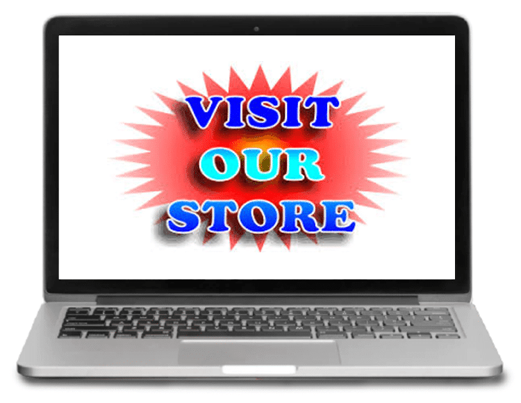 photo of computer with visit our store image