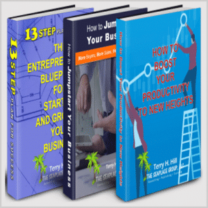 photo of collage of three books- 13 steps-how to jumpstart- how to boost #2