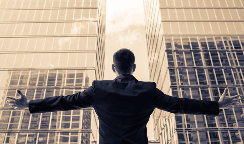 photo of an entrepreneur with open arms