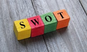 photo of blocks spelling SWOT