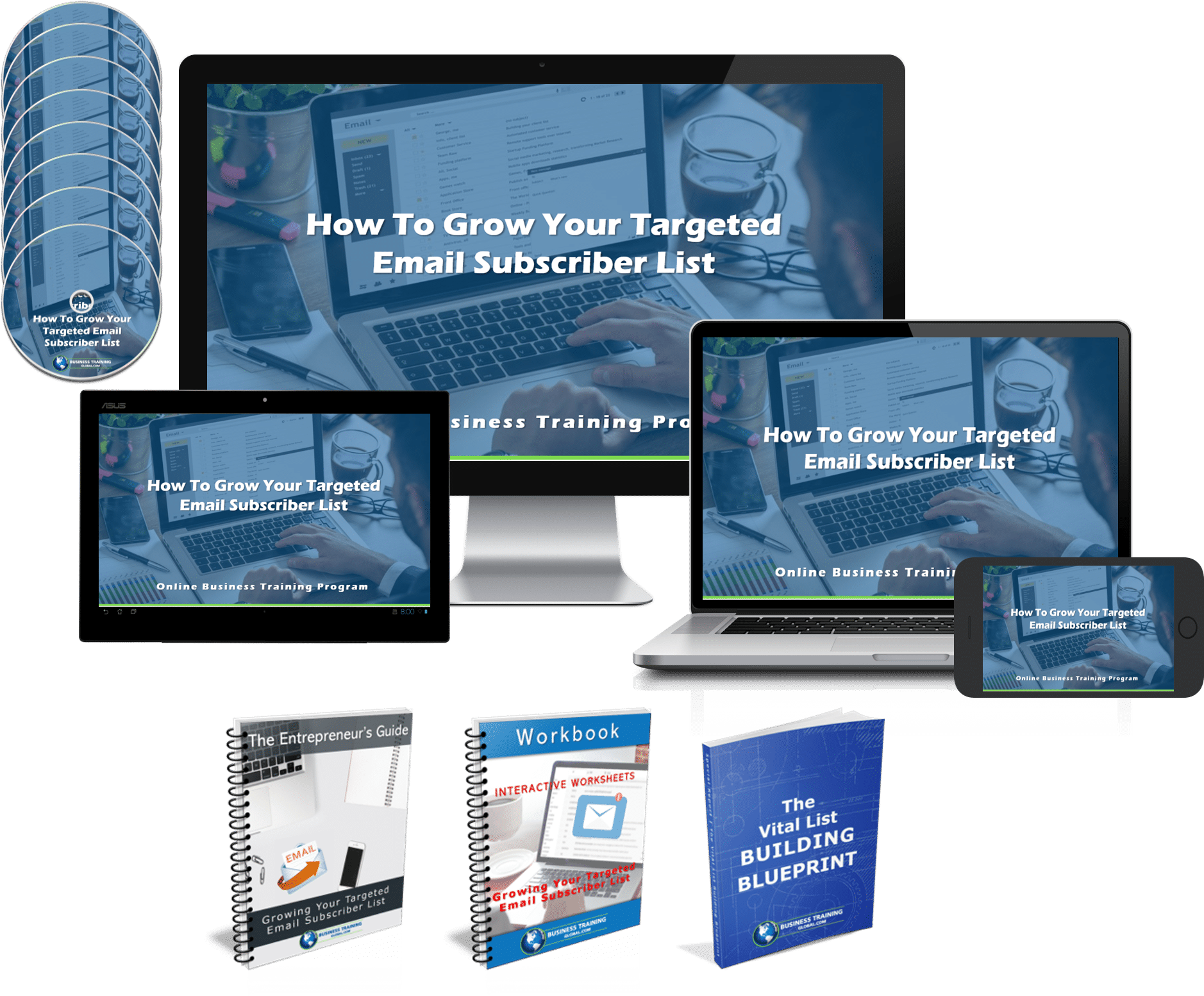 image collage of the Program How to Grow Your Targeted Email Subscriber List